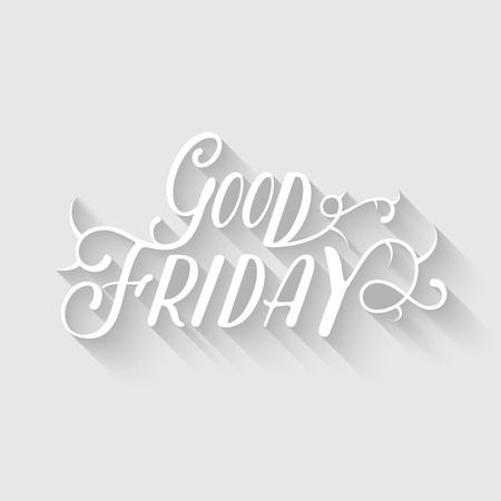 angel cemetery: Happy Good Friday vector eps10 illustration