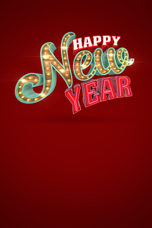 Happy New Year, 3d rendering