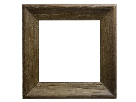 wooden box: Close-up of a small wooden frame isolated on white