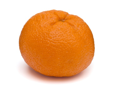 Close-up of a mandarin orange isolated on a white background photo