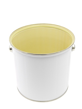 White empty paint can isolated on white background Stock Photo - 9830923