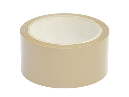 Tape roll with path isolated on white background