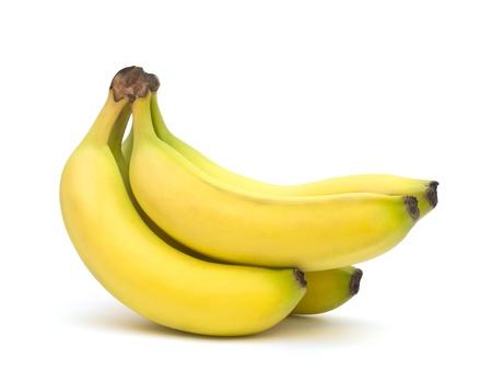 banane: Bananes sur un fond blanc Banque d'images