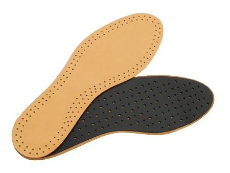 rubber sole: Shoe insoles isolated on white Stock Photo