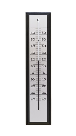 Large thermometer with ideal temperature isolated on white background Stock Photo - 10626890