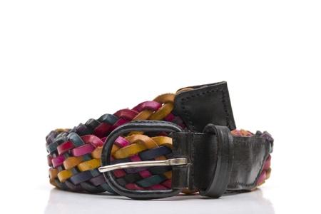 Colorful belt on white background Stock Photo - 10871175