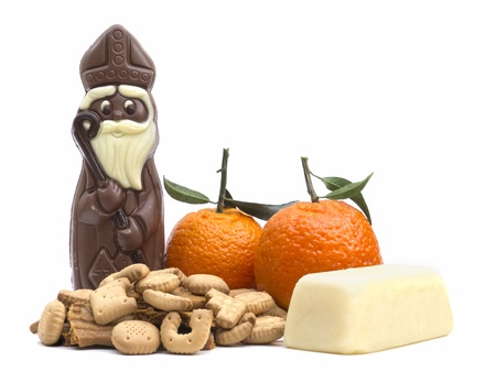 sinterklaas: Sinterklaas candy on white background Stock Photo