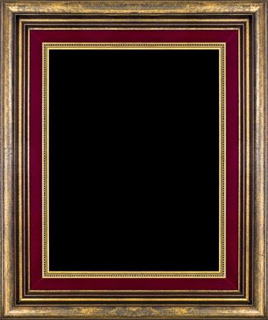 Marco de madera antiguas aisladas en negro Foto de archivo - 11430635