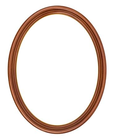 spiegelbeeld: Ovaal frame op wit wordt geïsoleerd Stockfoto