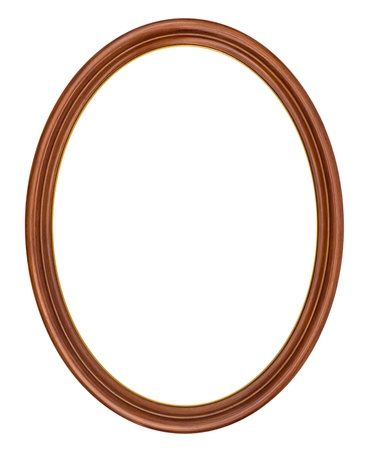 mirror frame: Oval frame isolated on white Stock Photo