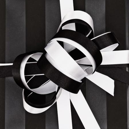 Vintage gift ribbon top closeup  photo