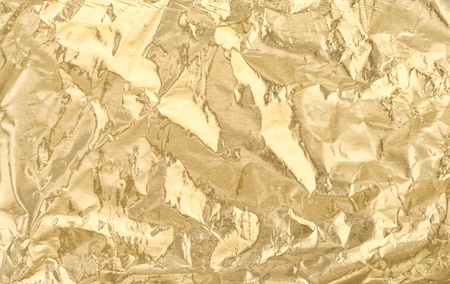 Golden foil texture for background photo