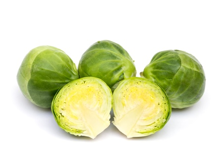 brussels sprouts: Brussels sprouts on white background Stock Photo