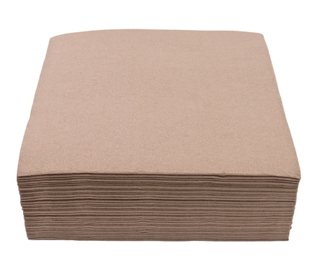 napkins: Brown napkins isolated on white background Stock Photo