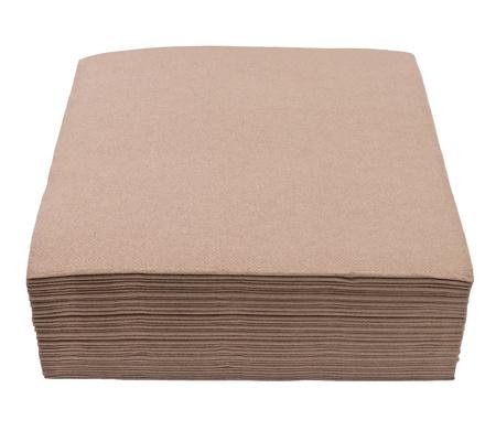 serviette: Brown servilletas aisladas sobre fondo blanco