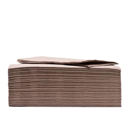 staple: Brown napkins staple isolated on white