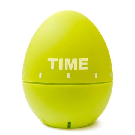 Egg timer concept on white background photo