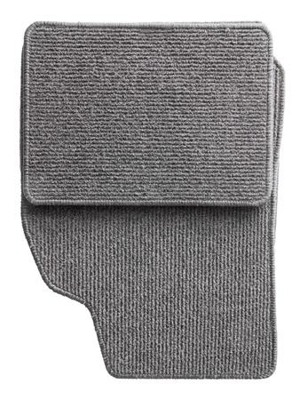 Grey car mat set isolated on white Stock Photo
