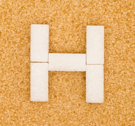 High blood sugar concept with cubes in letter shape photo