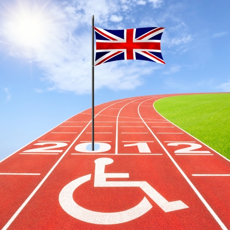 impairment: Summer competition for athletes with disabilitiess 2012 in London Stock Photo