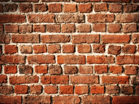 Old brick wall for background with soft vignette Stock Photo - 14222994