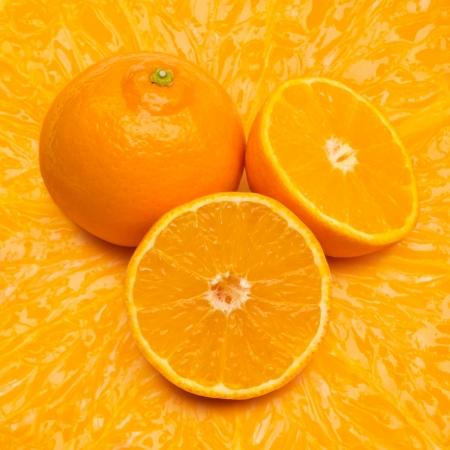 flesh: Orange fruit on flesh background
