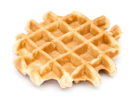 waffles: Waffle primer plano sobre fondo blanco