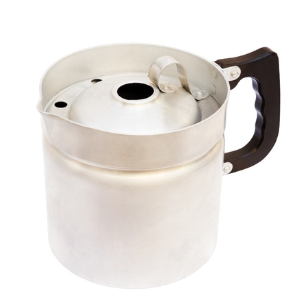 Old milk jar isolated on white with clipping path Stock Photo - 14787681