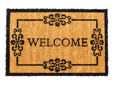 Welcome mat isolated on white Stock Photo - 14895720