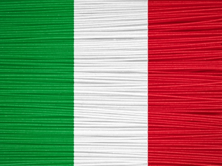Composite of spaghetti and italian flag photo