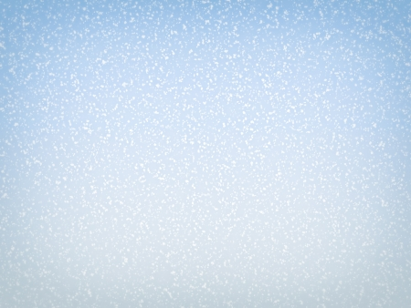 Snowy blue sky background with soft vignette