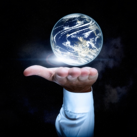 World in your hand concept Stock Photo - 16592655