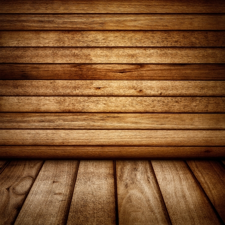 Vintage wood wall and floor backdrop  Stock Photo - 16907242