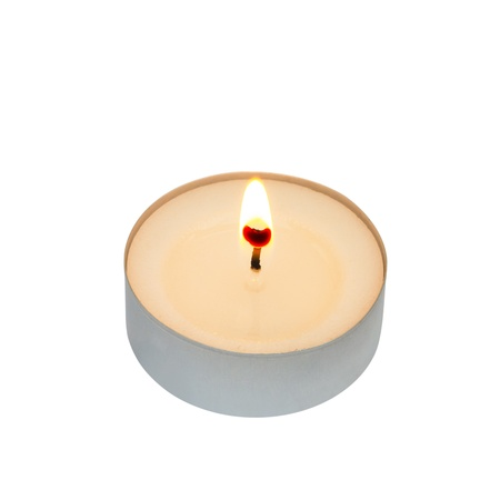 tealight: Tea light isolated on white with clipping path