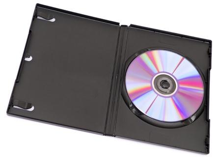 DVD case isolated on white background photo