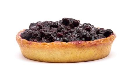 Blueberry pie isolated on white background photo