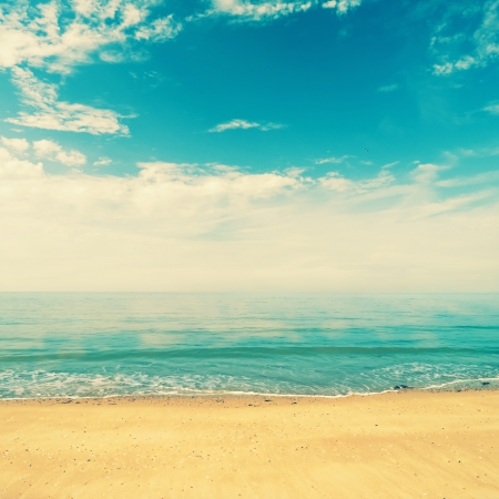 Ocean view from beach with retro look Stock Photo - 17048462