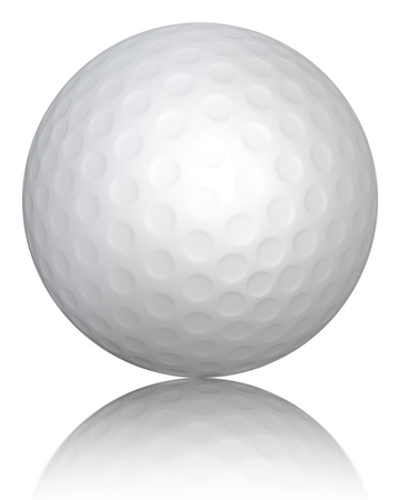 Golf ball on white background, clipping path included photo