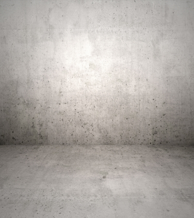 backdrop grungy: Concrete wall and floor backdrop Stock Photo