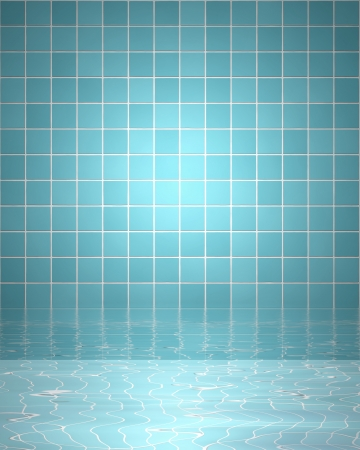 tiles: Spa background with bathroom tiles and water
