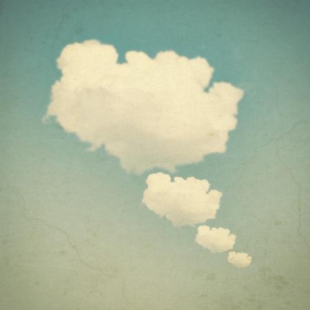 cuatro elementos: Burbuja nube con look vintage