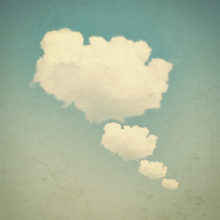 the four elements: Cloud bubble with vintage look