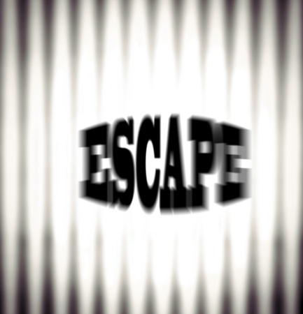 Escape concept with bars and word, blurred image Stock Photo - 19727554