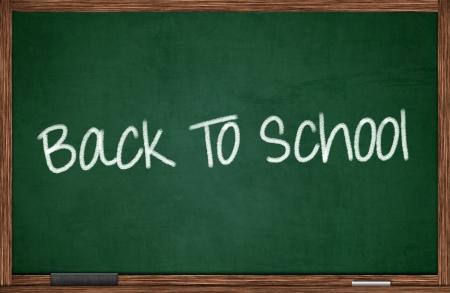 Back to school written on chalkboard Stock Photo - 19897623