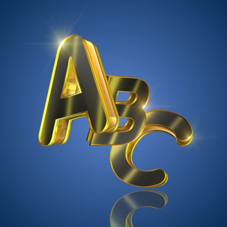 Alphabet concept with ABC letters photo