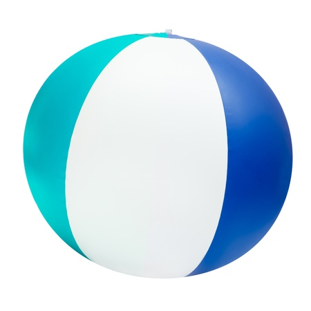 Beach ball isolated on white with clipping path photo