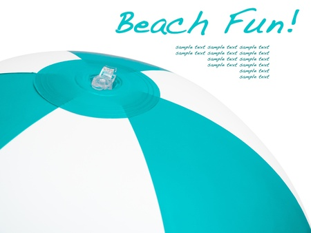 Beach fun concept with ball and sample text Stock Photo - 21431747