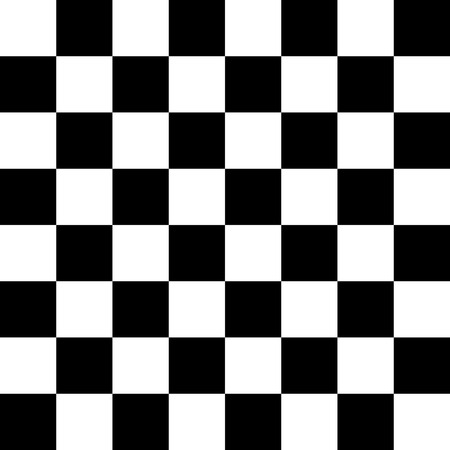Seamless black and white checkered pattern for floor or chessboard photo