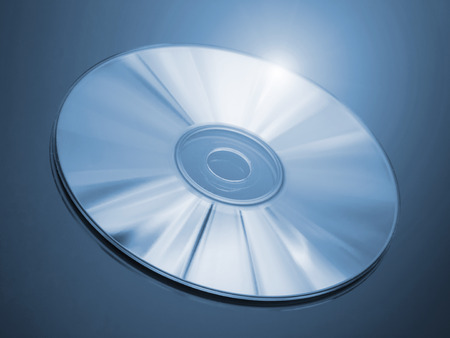 bluray: Blu-ray disc on a blue