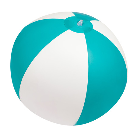 rubber ball: Beach ball isolated on white